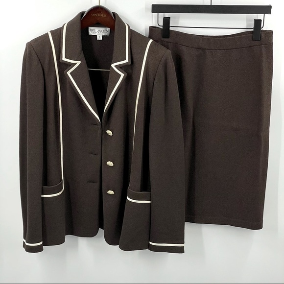 St. John Collection | Jacket and Pencil Skirt Set
